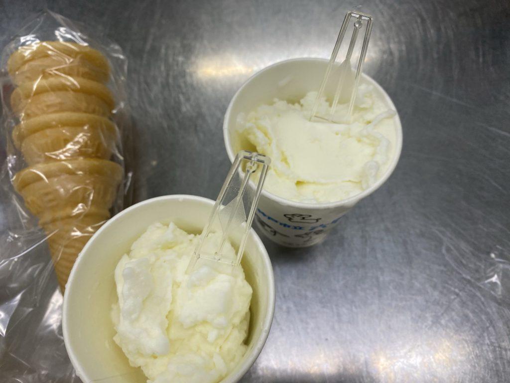 六甲山牧場アイス作り