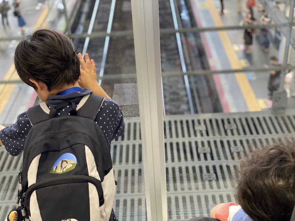 JR大阪駅改札階からの景色